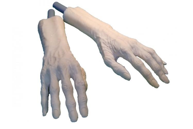 Paire de bras de zombie ou de vieillard