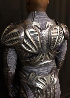 Defiance 3 - back. Canadian TV series. Molding and armors replica. Design : Simonetta Mariano.