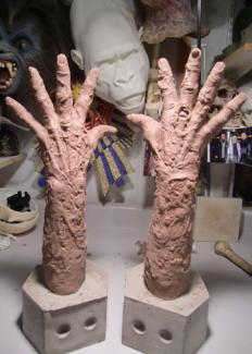 Death Dive - zombie arms gloves. Film. Sculpture