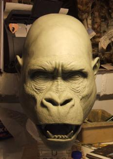 Gorilla. Private project. Sculpture