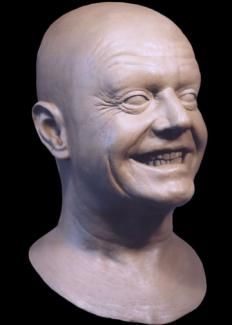 Jack Nicholson. Private project. Sculpture and lifecast replica of face.