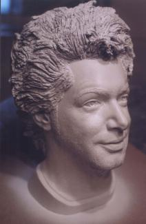 Réal Béland. Metal industry event Bust, lifecast and sculpture of the head of the humorist Réal Béland