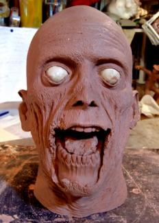 Zombie. Web site project. Sculpture